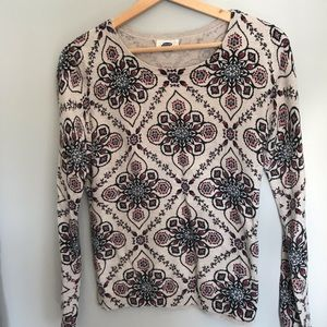 Old Navy printed sweater